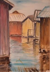 Keltainen vaja/Gula båthuset