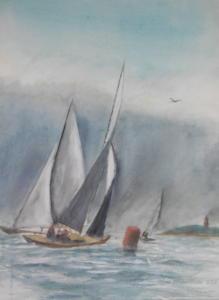 Regatan kääntöpoiju, akvarelli 2011, 73x52, 600€Myyty